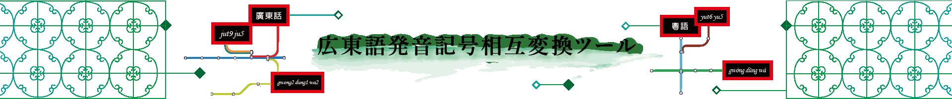 広東語発音記号(ピンイン/拼音) 相互変換ツール